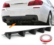 Universal Heck Diffusor für Stoßstange hinten mit 5 Finnen Carbon Optik