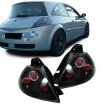Klarglas Rückleuchten schwarz für Renault Megane II 02-05