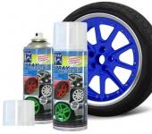 2 x 400ml Jom Sprühfolie Felgen Spray Folie Set blau (100ml=3, 07€)