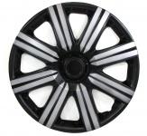 Radkappen Radzierblenden für Stahlfelgen Set Tenzo-R II 14 Zoll schwarz silber