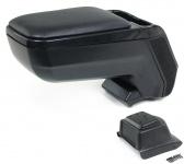 Mittelarmlehne Konsole verstellbar + Ablagefach schwarz für VW Polo 6R ab 09
