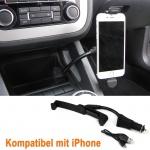 Aktive KFZ Auto Handy Halterung mit Ladestation für iPhone 5 5C 5S 5SE 6 6S