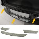 Ladekantenschutz Stoßstangenschutz Abdeckung Edelstahl 3 tlg für VW Tiguan 5N