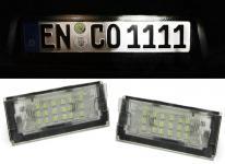 LED KENNZEICHENBELEUCHTUNG WEISS 6000K FÜR Mini Cooper R50 R53 01-06 R52 04-07
