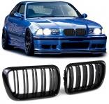 Sport Kühler Grill Nieren schwarz Doppelsteg für BMW 3er E36 Facelift 96-99