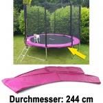 Sicherheits Schutz Rand Abdeckung für Trampolin Sprungfedern 244 CM pink