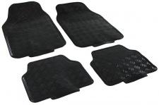 Auto Gummi Fußmatten universal Alu Riffelblech Optik 4-teilig Schwarz