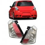 LED Klarglas Rückleuchten chrom für Suzuki Swift III auch Sport 05-10