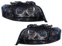Angel Eyes Xenon Scheinwerfer D2 S H7 schwarz für Audi A6 97-01