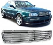 Sport Kühlergrill ohne Emblem chrom für Audi 80 B4 Limousine Avant 91-96