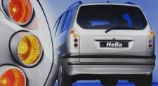 HELLA UPGRADE RÜCKLEUCHTEN SILBER für Opel Zafira A 99-05
