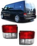 Rot weiße Rückleuchten Kristall für VW Bus Transporter T4 90-03