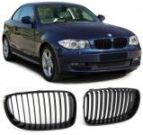 Sport Kühlergrill Nieren Facelift schwarz für BMW 1er E81 E82 E87 E88 07-12