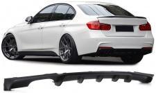 Heck Diffusor Einsatz Doppelrohr links Performance Look für BMW 3ER F30 ab 11
