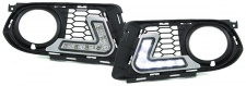 LED Tagfahrleuchten DRL mit Gitter für M Technik Stoßstange BMW 3ER E92 Coupe