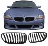 Sport Kühler Grill Nieren schwarz glänzend für BMW Z4 E85 03-07