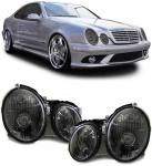 Xenon D2S H7 Scheinwerfer Facelift Optik schwarz für Mercedes CLK W208 97?03