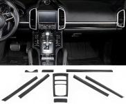 Echt Carbon Interieur Leisten Blenden Set 9teilig für Porsche Cayenne 92A 11-17