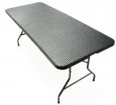 Garten Party klapp Tisch mit Tragegriff Rattan Optik schwarz 180x75x74 CM