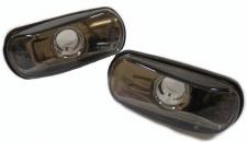Klarglas Seitenblinker schwarz Blackchrom für Saab 900 9000 9-3 9-5