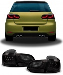 LED Rückleuchten + LED Blinker schwarz für VW Golf 6 ab 08
