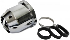 Flow Jet Sport Luftfilter mit Adapter 60/65/70mm chrom