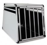 Alu Hunde Tier Reise Auto Transport Box mit Tür Rundstab 69x90x65cm