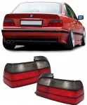 Rot schwarze Rückleuchten für BMW 3ER E36 Coupe Cabrio