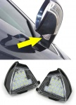 LED Aussen Spiegel Umfeld Beleuchtung Hell weiß für VW Golf 5 Jetta 3 Passat 3C