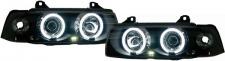 CCFL Angel Eyes Scheinwerfer schwarz für BMW 3ER E36 Limousine Touring