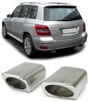 Auspuffendrohre Blenden Edelstahl zum Schrauben für Mercedes GLK X204