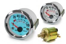 Öldruck Anzeige Zusatz Instrument 52mm Plasma blau