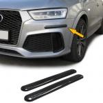 Stoßstangen Schutz Streifen flexibel zum kleben universal 306x35mm Carbon Look