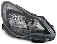 Scheinwerfer H1 H7 schwarz mit Stellmotor rechts für Opel Corsa D ab 11