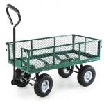 Transport Gitterwagen Handwagen Bollerwagen Seitenteile klappbar bis 300kg grün