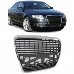 Sport Grill Kühlergrill ohne Emblem chrom schwarz für Audi A6 C6 04-11