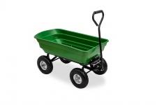 Transport Garten Boller Wagen mit Kippfunktion und Lenkachse bis 75 kg Zuladung