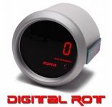 Drehzahlmesser Anzeige Zusatz Instrument 52mm digital Magic rot