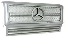 Kühlergrill Grill Sport Optik silber für Mercedes G W463 90-10