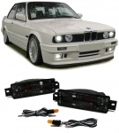 Klarglas Blinker mit Standlicht schwarz für BMW 3ER E30 87-93