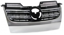 Sport Kühlergrill ohne Emblem mit Doppelrippen chrom für VW Golf 5 03-08