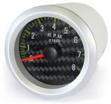 Drehzahlmesser Einbau Zusatz Instrument 58mm Carbon