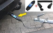 Auto Anhänger Stecker Prüfgerät Beleuchtungs Tester mit Adapter 13 auf 7 polig
