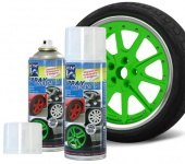 2 x 400ml Jom Sprühfolie Felgen Spray Folie Set grün (100ml=3, 07€)