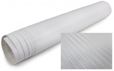3D Carbon Folie selbstklebend 30cm *1.524 Meter weiss