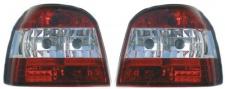 KLARGLAS RÜCKLEUCHTEN ROT KLAR ROT FÜR VW Golf 3 91-97