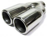 Endrohr Doppel rund 2 x 76mm chrom mit ABE