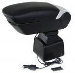 Gepolsterte Mittelarmlehne klappbar mit Staufach + 2 USB für Ford Focus II 04-12