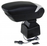 Premium Mittelarmlehne Armlehne mit Staufach + 2 USB für Dacia Logan 04-12