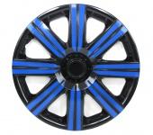 Radkappen Radzierblenden für Stahlfelgen Set Tenzo-R II 15 Zoll schwarz blau